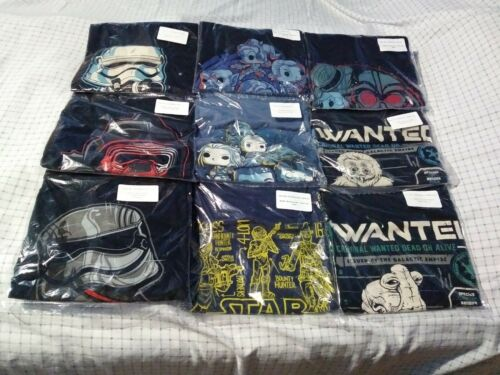 Funko Pop Tees Shirts Star Wars Smuggler/'s Bounty Rebels Force Awakens