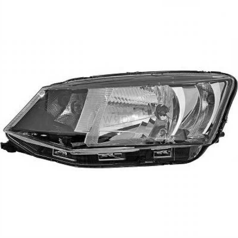 SKODA Fabia 1999-2007 Chrome Headlight Front Lamp RIGHT RH