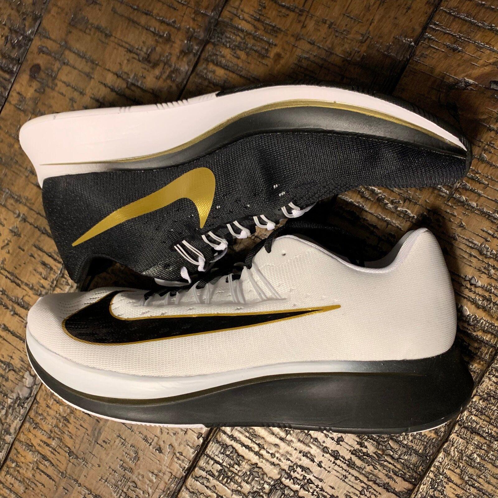 Nike Zoom Fly  Mismatch  880848-006 Black White gold Men's SZ 12 NO BOX TOP
