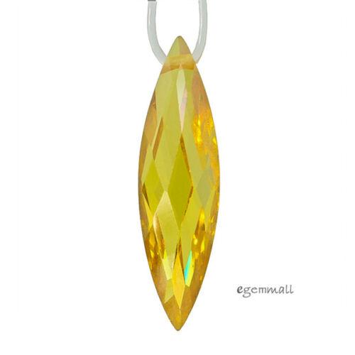 2 Cubic Zirconia Marquesa Pendiente Colgante Cuentas 5x20mm amarillo oro #96165