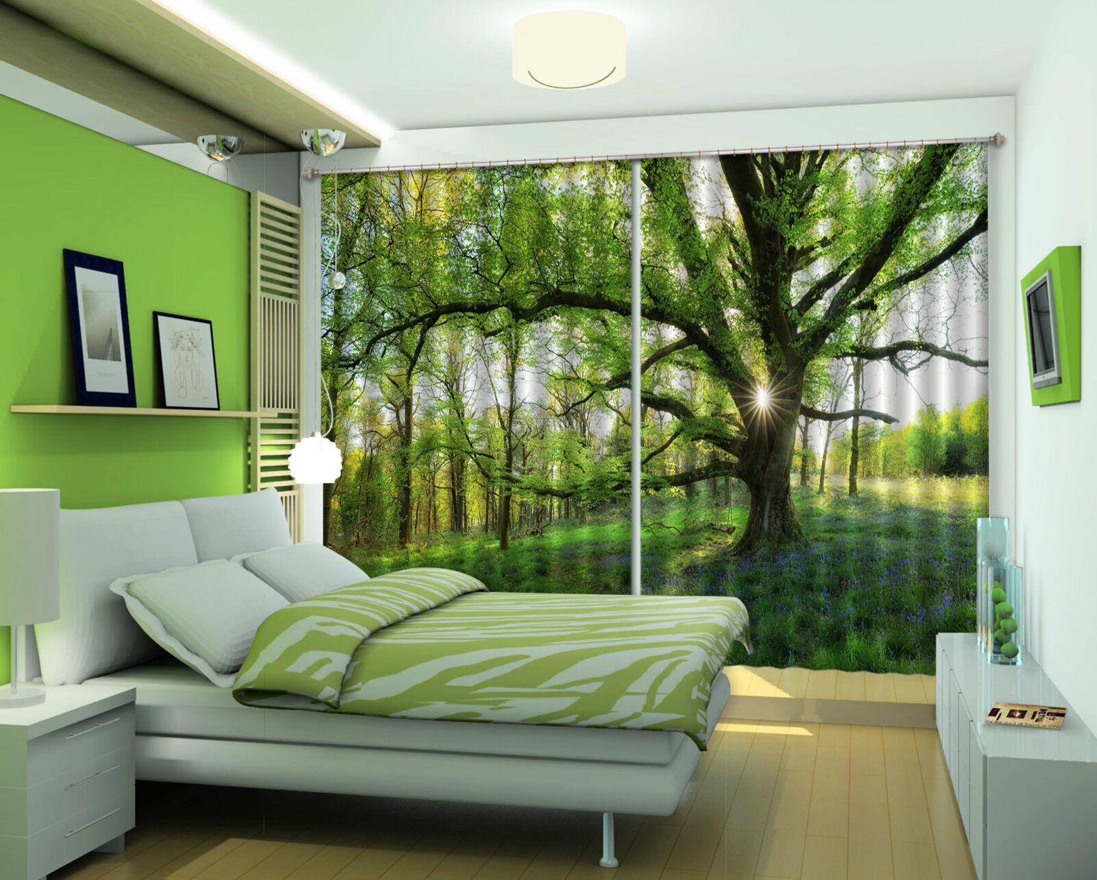 3d grande árbol 5447 bloqueo foto cortina cortina de impresión sustancia cortinas de ventana