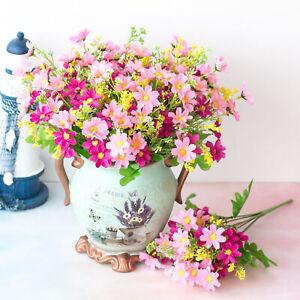 28heads Artificial Flowers Fake Daisy Outdoor False Plants Grass Garden home