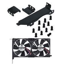 Dual Fan Mount Rack PCI Slot Bracket for Video Card DIY