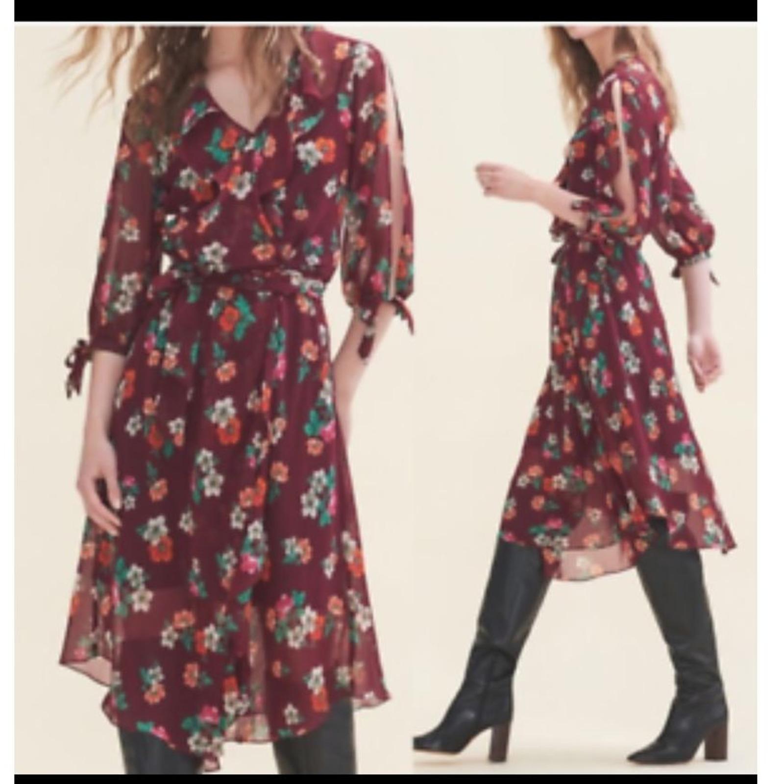 Maje Reselia Chiffon dress medium  - image 1