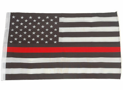 SMF Small 12 Inch X 20 Inch Replacement Flag For Whip Antenna Thin Red Line