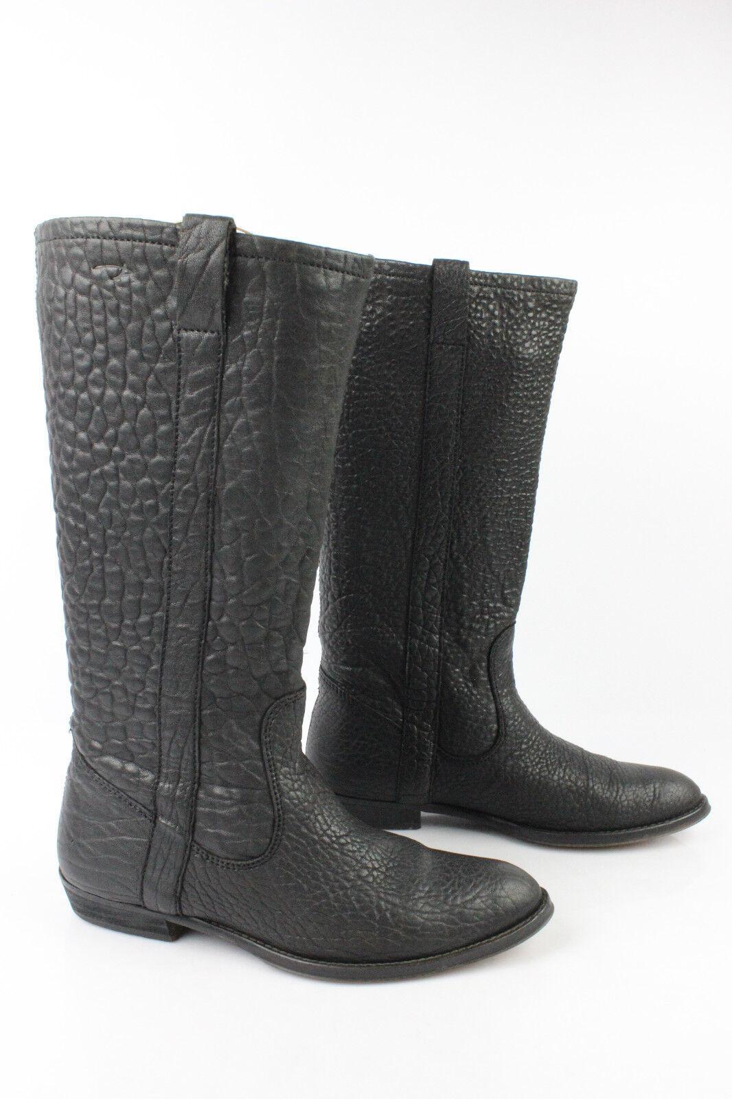 Stiefel Pastelle von Patricia Elbaz Leder BUBBLE schwarz t 37 guter Zustand