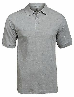 Super Touch Men's Polo T Shirt Grey Marl