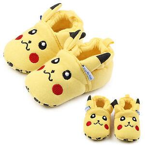Newborn-Unisex-Boy-Girl-Pikachu-Cartoon-Soft-Sole-Prewalker-Trainers-Crib-Shoes