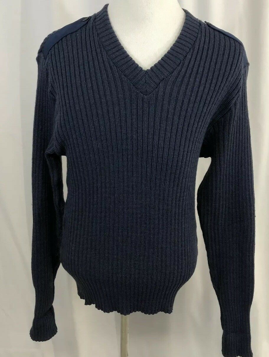 Men's Wool Military Sweater Made In England  46 L Citadel
