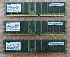 Samsung 3GB ( 3 x 1GB ) PC2100R-20331-N0 CL2.0 M312L2828ET0-CA2 Server Memory