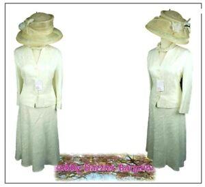 Pays Casuals Femme 2 Pièce Costume Taille 18 14 Ivoire Mère De La Mariée Courses-afficher Le Titre D'origine Petit Profit
