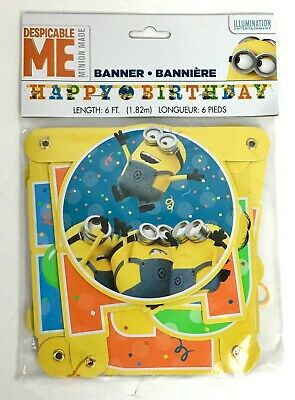 6ft Despicable Me Minions Birthday Banner