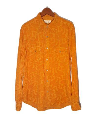 Ryan Michael Paisley Jacquard Snap Shirt Large Ora