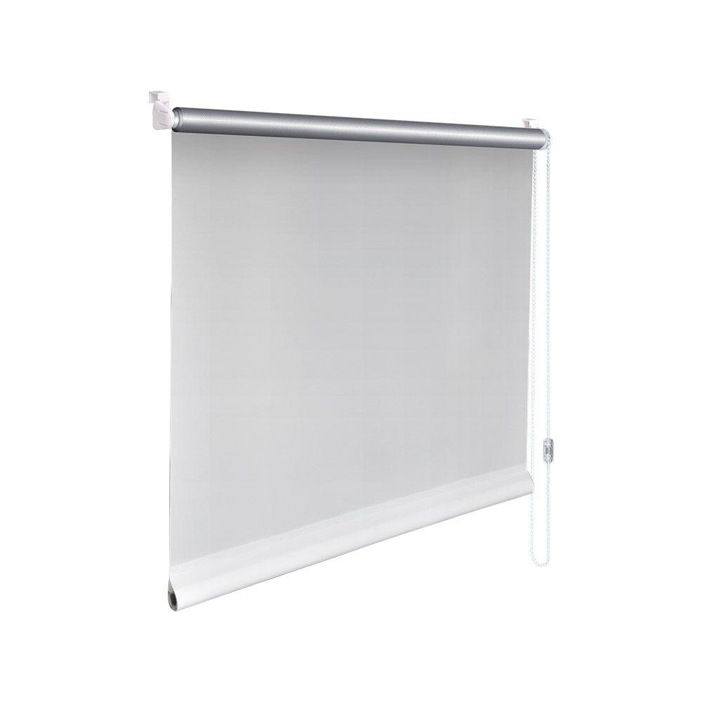 THERMO  Klemm Rollo Verdunkelungsrollo - Höhe 220 220 220 cm weiß mit 2 Klemmträgern | Qualifizierte Herstellung  | Beliebte Empfehlung  0aedb5