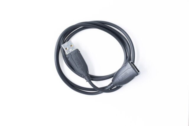 USB 2.0 Extension Cable High Speed A Male to Female Extender - 1m Black
