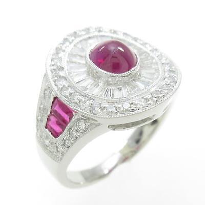 Authentic Platinum Ruby Ring  #260-001-032-9856