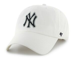 7afcdb5772a New York Yankees 47 Brand White Clean Up Adjustable Field Cotton Hat ...