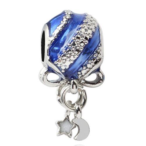 European Silver Charms Merry Xmas Beads CZ Pendant Fit 925 Sterling Bracelets