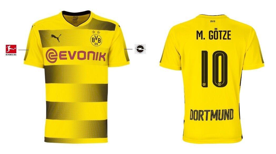 Trikot Puma Borussia Dortmund 2017-2018 Home - Götze 10  BVB Fussball