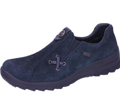 Rieker Pumps schwarz Leder komfort Fußbett Applikation Damen