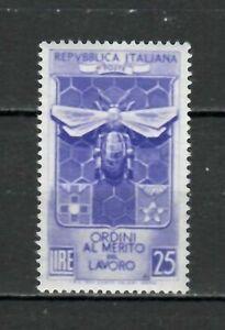 S21604) Italy 1953 MNH New Merit Labour 1v