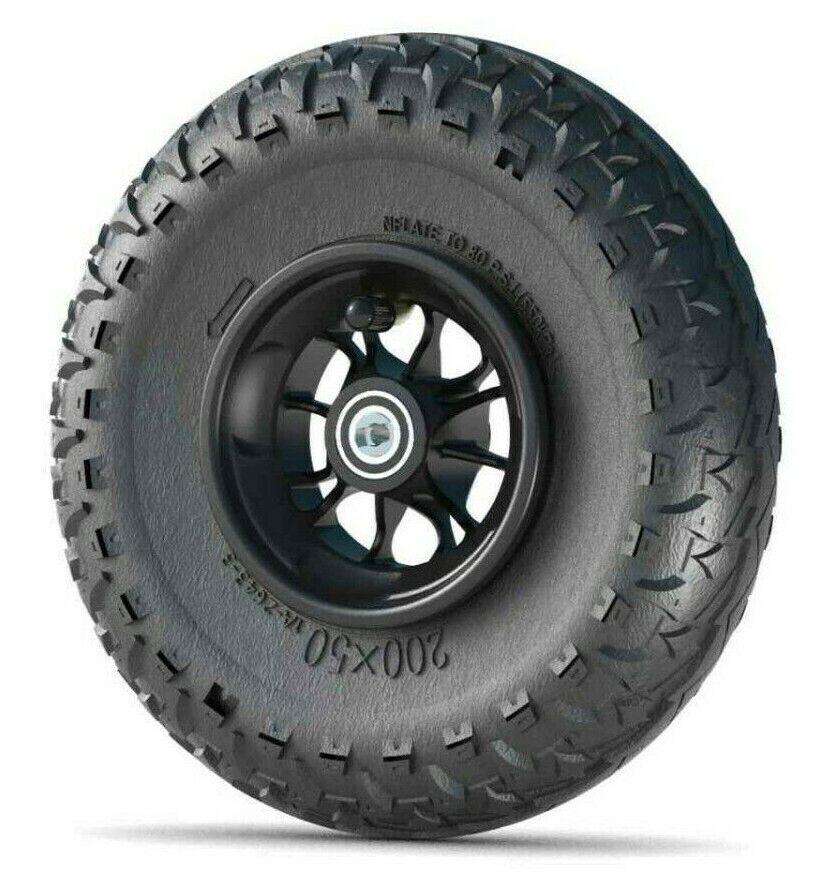 Skike Rad mit Rücklaufsperre 8 x 2 Zoll Reifen Major Grip 200 x 50 schwarz