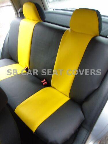 I Schwarz//Gelb 59.99 Passend für Suzuki Jimny Auto Kunstleder Sitzbezüge