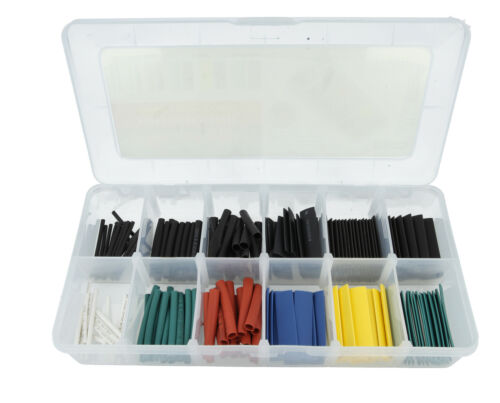 Heat Shrink Tube Assortment Wire Wrap Electrical Insulation Sleeving 127 Piece
