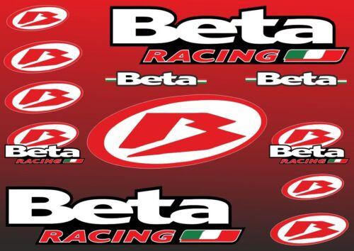 Beta Decals Sticker Motorcycle Vinyl Graphics Kit Logo Adhesive Aufkleber 12 Pcs