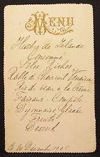 Antike Menükarte Frankreich 1905 Speisekarte France Dinner Menu Card (Y-2337