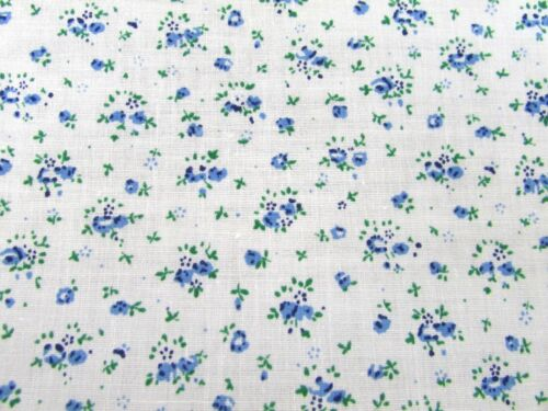 Floral PolyCotton Fabric  Ivory BackGround  Tiny Small  RED BLUE LILAC Per Metre
