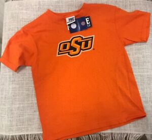 wholesale dealer d4287 eafcd Details about OSU logo Oklahoma State Cowboys Childs size 7 boys girl  Orange T-shirt NEW NWT