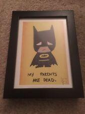 """Emo Batman HD print Home decor Art DC Sad Batman Includes Frame 8""""x6"""""""