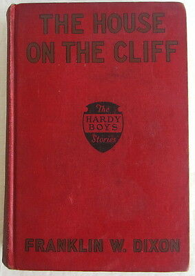 Hardy Boys #2 House on the Cliff FIRST Edition 1st PRINT Franklin W Dixon Red