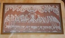"SCRANTON LACE CO. TABLECLOTH~LAST SUPPER~EASTER~60"" x 84"" OBLONG~WHITE"
