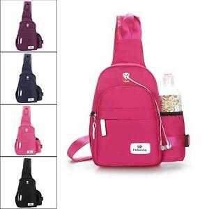 Women Men Nylon Chest Shoulder Bag Sling Bag  Crossbody Backpack Travelling