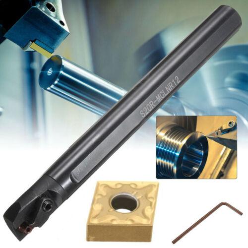 CNMG1204 Blade Insert+Wrench New S20R-MCLNR12 Boring Bar Holder Lathe Tool