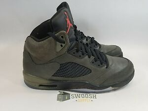 classic fit 9e240 26073 Image is loading Nike-Air-Jordan-V-5-Retro-Sequoia-Fire-