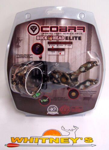 803 a perdu Cobra Tir À L/'Arc Buckhead Elite 3 Pin Bow Sight-perdu Camo-C