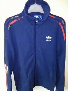 Details zu Adidas Trainingsjacke Jacke Blau Gelb Rot Damen Gr. 40 Im Retro Look