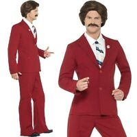 Mens Ron Burgundy Anchorman Fancy Dress Costume Legend Outfit By Smiffys