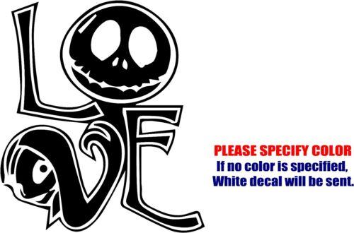 "Vinyl Decal Sticker Nightmare Jack Skeleton Sally Skull #04 Car Truck Fun 6/"""