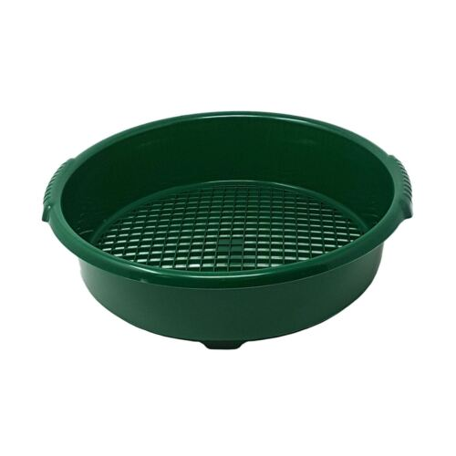 4 X LARGE THICK BPA FREE MADE UK GREEN GARDEN SOIL WASTE SIEVE RIDDLE