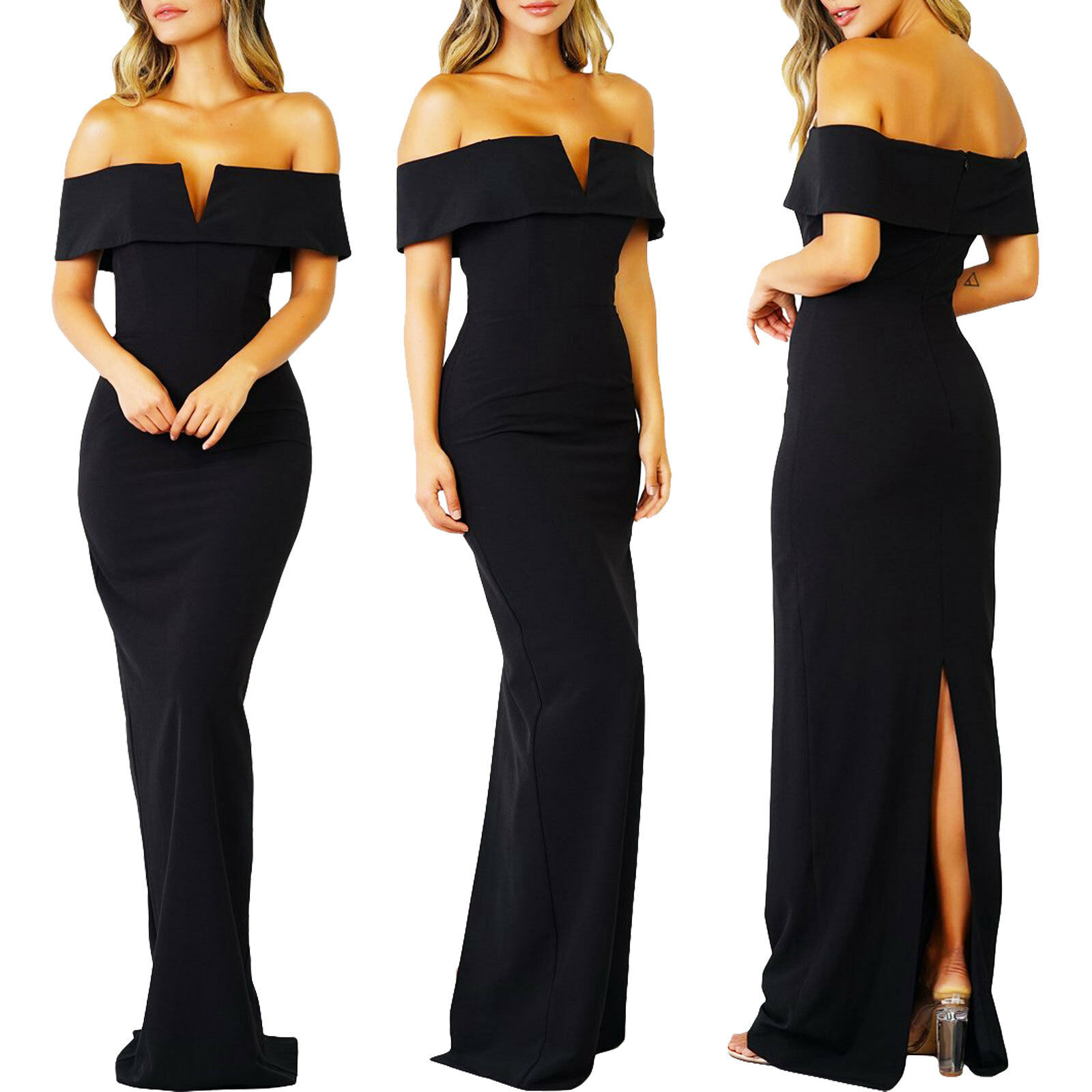 Vestido de women largo espalda desnudo sirena elegante ceremonia nuevo DL-2214
