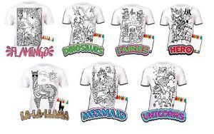 Colour-your-own-t-shirt-unicorn-mermaid-dinosaur-novelty-gift