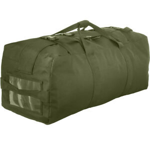 Olive Drab Duffle Bag   Double Strap Backpack Tactical Duffel ... 13264a352c8
