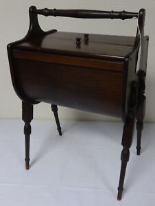 Beautiful-Antique-Walnut-Wood-Sewing-Stand