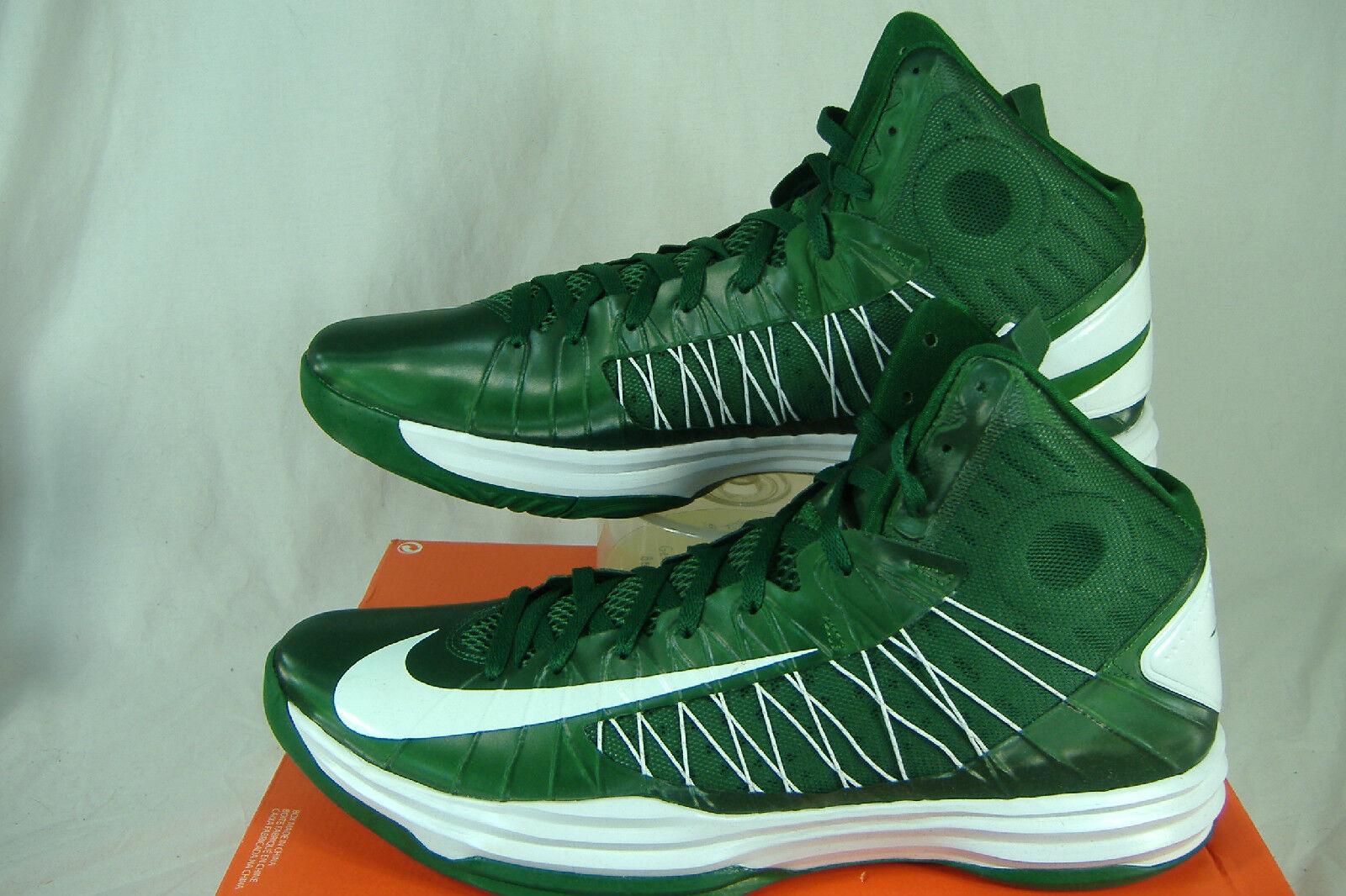 Nuevo Mens 16.5 NIKE Hyperdunk TB verde blancoo alta Top zapatos  140 524882 -300