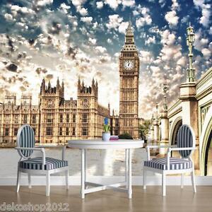 Vlies-Fototapeten-Fototapete-Wandbild-Tapeten-Tapeten-LONDON-BIG-BEN-844VE