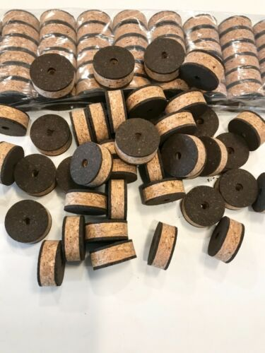 "1 1//4/"" x 1//2/"" x 1//4/"" Hole Cork Rings 36 Recoil Burl"